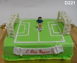 торт футбольное поле