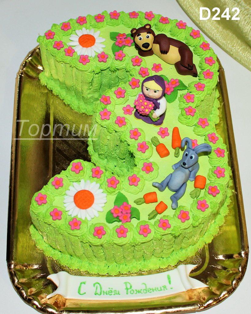 Торт цифра три для девочек