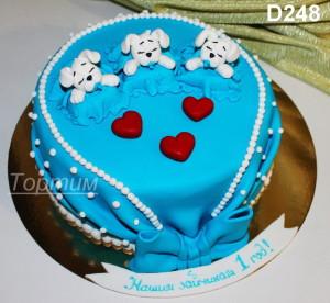 торт тройняшкам