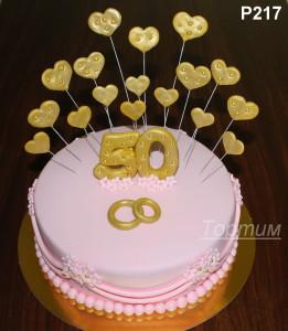 торт на золотую свадьбу