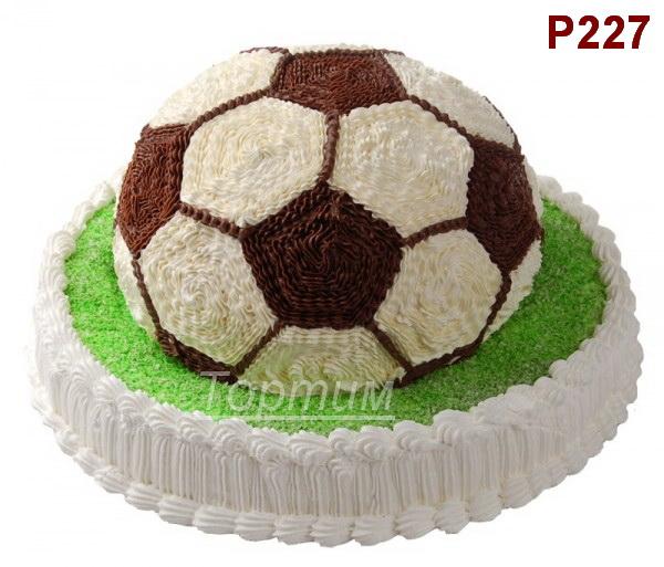 как украсить тортик мячик