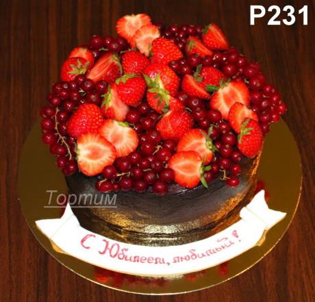торт с ягодами