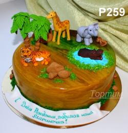 торт сафари