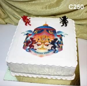 свадебный торт с фотопечатью
