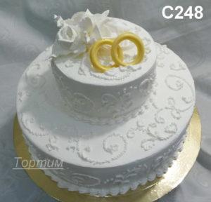 сливочный свадебный торт