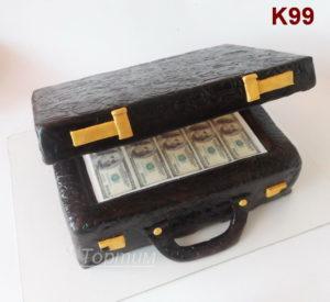 торт чемодан с баксами