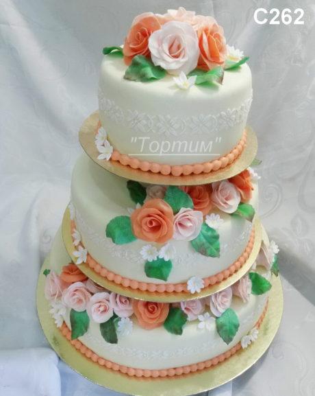 свадебный торт на подставке