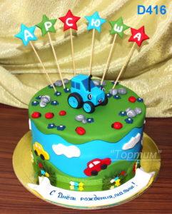 торт с трактором