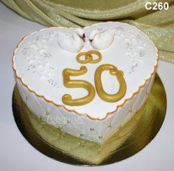 торт на золотую свадбу
